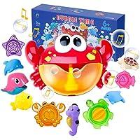 Joyjoz Juguetes De Baño Cangrejo Bubble Toys Bath Squirters Toys Stacking Cups Bubble Machine con música para niños pequeños