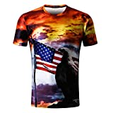 T-Shirt Herren 3D Druck T-Shirts Ärmel Bluse Tops GreatestPAK,Mehrfarbig,XL