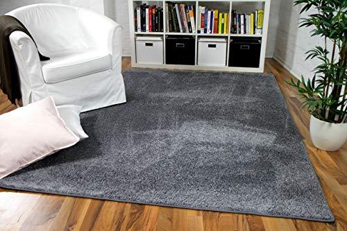 Snapstyle Hochflor Velours Teppich Mona Grau in 24 Größen