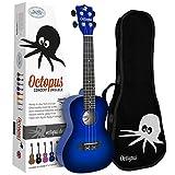 Octopus Ukulélé de concert avec sac-Bleu foncé Burst