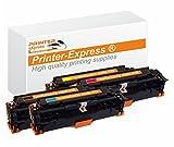 Printer-Express XL Toner 4er Set ersetzt HP CE410X, CE410A, CE 410X, CE411A, CE 411A, CE412A, CE 412A, CE413A, CE 413A, 305X, 305A Toner für HP LaserJet Pro 300 / HP LaserJet Pro 400 Color Drucker