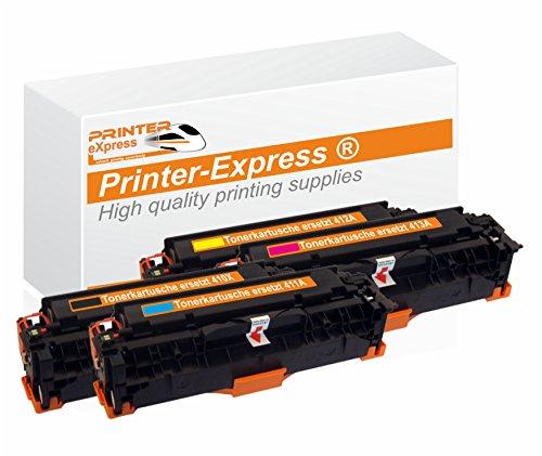 Preisvergleich Produktbild Printer-Express XL Toner 4er Set ersetzt HP CE410X, CE410A, CE 410X, CE411A, CE 411A, CE412A, CE 412A, CE413A, CE 413A, 305X, 305A Toner für HP LaserJet Pro 300 / HP LaserJet Pro 400 Color Drucker