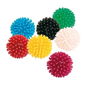 cat ball toy -10 x small spikey  by my pet