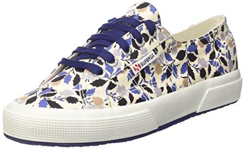 Superga Unisex-Erwachsene 2750 Fabriclibertyw Sneaker Blau (floral Blue Beige)