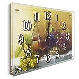 YS-ART Orologio da parete con foto in vetro desig | 30 x 40 cm | Orologio moderno in vetro a parete silenziosa a basso rumore con motivi e vetri nobili | per soggiorno, camera degli ospiti, (PB003)