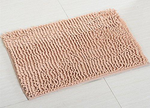 Bad-Teppiche, Chickwin Anti-Rutsch-Bequeme Badematte Badezimmer-Teppich Super saugfähiger weicher Duschteppich (40*60 cm, Licht tan) Badezimmer-teppiche-sets, Tan