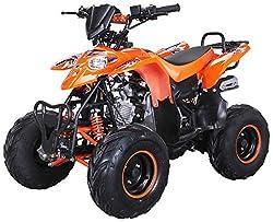 Kinder Quad S-5 Polaris Style 125 cc Motor Miniquad 125 ccm Razer (Orange)