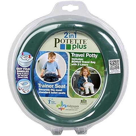 potette Plus bibs N Stuff–Asiento para inodoro, color verde