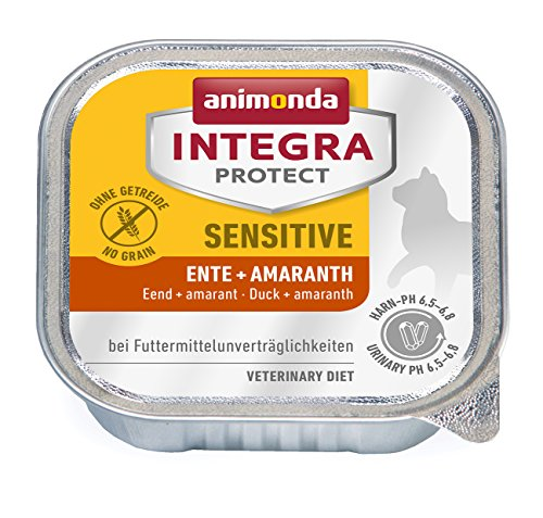 Animonda Integra Protect Sensitive Ente + Amaranth 16 x 100 g Schalen, 1er Pack (1 x 1.6 kg)