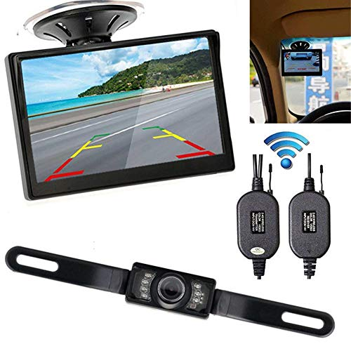 Calistouk Rückfahrkamera, 10,9 cm (4,3 Zoll) Monitor, kabellos Lcd-composite-video