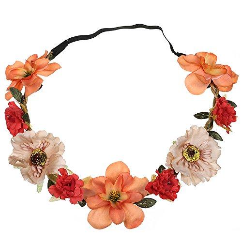 Neu Garland Damen Simulation Blumen Haarband Stirnband Kopfband, LEEDY Tanzparty Party Geschenk Neuheit Blume Muster bedruckt Verdreht Stirnbänder Mädchen ()