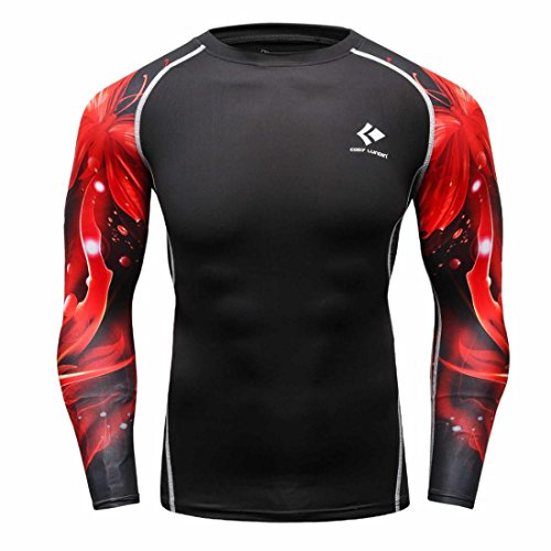 Men's Long Sleeves Base Layer Weight Lifting Tee Shirts style 6