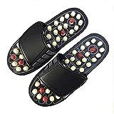 DZSF Akupunktur Gesunde Entspannung Mann und Frauen EIN Paar Fuß Slipper Sandalen Reflex Stress-Drehfuß Massage-Schuhe,44/45
