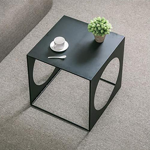 M-JH Table d'appoint, Table Basse Creuse carrée en Fer, Cadre en métal, Table d'appoint multifonctionnelle de café de canapé de Salon (Taille : 45CM)