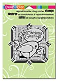 Stampendous Christmas Cling Rubber Stamp 6.5'X4.5' Sheet-Robin Greetings