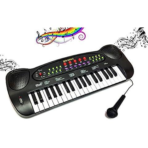 Pianola Music 37 tasti con microfono luci e 20 suonerie pianoforte varie funzioni bambini. MWS