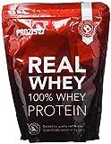 Prozis 100% Real Whey Protein 1000 g, Fraise, Avec des acides aminés essentiels et riche en BCAA pour une récupération et une croissance musculaire maximales