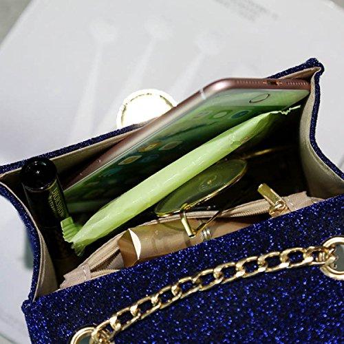 FZHLY New Fashion Ladies Mini Shoulder Bag Messenger,Pink Grey