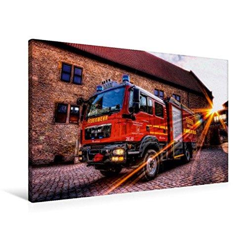 Braunschweig 2 Licht (Calvendo Premium Textil-Leinwand 90 cm x 60 cm quer, Gerätewagen Logistik 2 FF Schöningen | Wandbild, Bild auf Keilrahmen, Fertigbild auf echter Leinwand, Leinwanddruck Technologie Technologie)