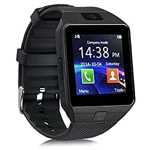 Bluetooth DZ09 Smart Watch Wrist Watch Phone with Camera & SIM Card Support with 180 Days Warranty (Colour Black) compatiable with Huawei Honor 5A