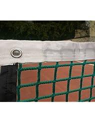 Red de padel sin nudos 3 mm con cinta perimetral. Color verde