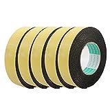 Dealmux 5pcs 4m de long x 35mm x 3mm seul côté adhésif ruban mousse EVA éponge Jaune