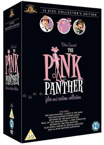 The Pink Panther Complete Collection All 6 Movies (The Pink Panther, A Shot in the Dark, Pink Panther Strikes Again, Revenge of the Pink Panther, Trail of The Pink Panther and Return of the Pink Panther) Films All 124 Original Cartoon Episodes (12 Disc) DVD Collection Box Set More than 3 Hours of Special Features Extras by Peter Sellers