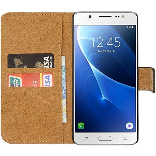 Ambaiyi Genuine Pelle Portafoglio Custodia Flip Case Cover per Samsung