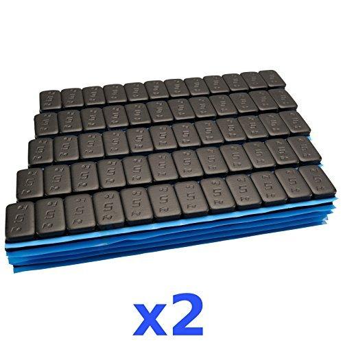 2x 6KG 12KG SCHWARZE Premium Auswuchtgewichte 12x5g Klebegewichte 200 Riegel