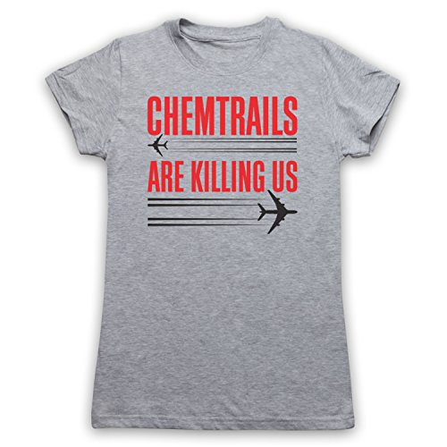 Chemtrails Are Killing Us Protest Damen T-Shirt Grau