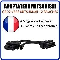 MISTER DIAGNOSTIC Adaptador Mitsubishi 12 Pines a OBD2
