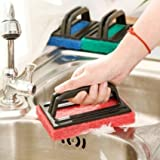 Zolo KN 113 Brush Floor Tile Scrubber with plastic handle Polisher Cleaning Brush Pack of 3 (Colour May Vary)
