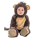 Lazzboy Karneval Kostüm Kleidung Baby Halloween Tierkostüm Kapuze Body Footies Strampler Outfit(Höhe 80,Braun)