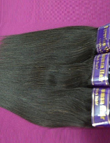 JFF/ Großhandel 1 kg 20balls lot peruanischer remy gerade menschliches Haar peruanisches reines Haar orginal menschliches Haar Weben , 22 inch & 24 inch-natural color