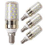 E14 Lampadina di Mais LED 12W, Bianca Freddo 6000K, 100W Lampadine a Incandescenza Equivalenti, 1200 Lumen, Lampadine LED a Piccola Vite Edison, (4-Pack)