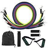 Fodlon Expander Bänder, Widerstandsbänder Übungsbänder Schließen 5 Verschiedene Niveaus Übungsbänder, Türanker, Schaum-Handgriffe, Knöchel-Bügel und Tragetasche Für Training mit EIN