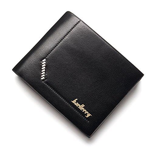 Ulisc Men Wallets Short Coin Purse Small Vintage Wallet Leather Card Holder Pocket Purse Men Wallets (Billfold Card Wallet Holder)