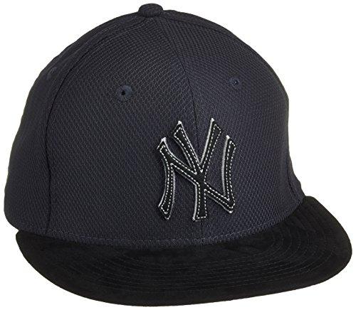 New Era Cap Diamond Suede New York Yankees, Navy/Gray/Black, 7 1/2, 80214426 (Black Diamond Skate)