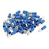 Aexit 50 Unids 16-14 AWG MPD2-156 Manguito de PVC azul aislado Terminales de cable de (model: W8246VIIII-2914XB) 5 mm Crimpado