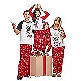 Yalatan Christmas Elm Print Pyjamas Sets Familie Passenden Kleidung Für Mama Dad Kid