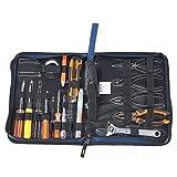 Babimax Sacchetto dell'attrezzo per Set di riparazione elettricista, Kit di elettronico Lastra rigida Colore blu per Domestici, giardinaggio, elettricisti, carpentieri 23.5x5x31 cm