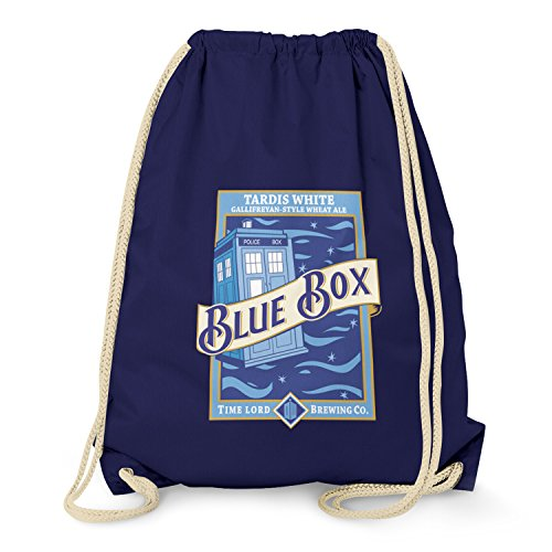 Texlab Blue Box White Ale - Turnbeutel, navy