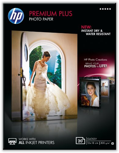 HP CR676A Papier photo premium plus 13 x 18 Brillant