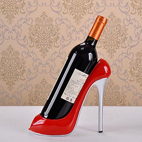 WINOMO High Heel Schuh Wein Flasche Halter Wein Rack Home Dekoration Schmuck Kunsthandwerk (rot)