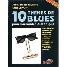 Milteau 10 Themes De Blues Pour Harmonica Diatonique Harm Bk/Cd French