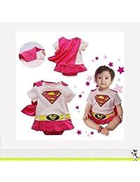 SUPERGIRL, déguisement bébé 6 à 24 mois (A) 6/9 mois,12 mois,18 mois,2/3 ans (95 cm)
