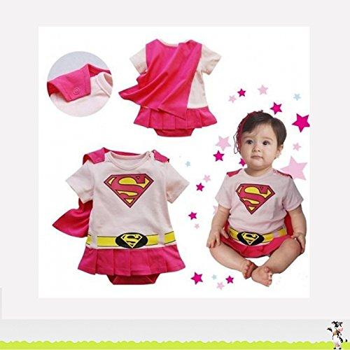 Imagen de supergirl, disfraz para bebé de 6a 24meses a , 6/9meses, 12meses, 18meses, 2/3años 95cm multicolor multicolor talla 2/3 ans 95 cm