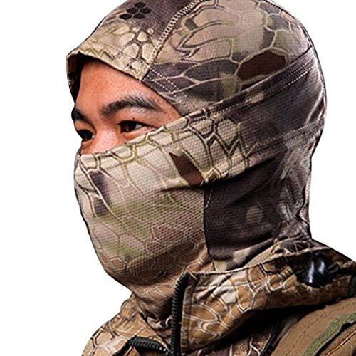 Greenlans Camouflage-Sturmhaube, für die Jagd, Ski, Außenbereich, Vollmaske mit Halsschutz, 8, 8
