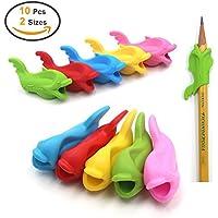 Firesara Bleistift Grips Silikon Universal-Ergonomische Dolphin Stil für Rechtshänder Kinder, Schüler Erwachsene (10 Stück)