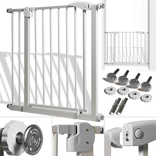 Kidiz® Türschutzgitter ✓ Absperrgitter ✓ Treppengitter ✓ Kindergitter | Gitter Haustier | Farbe: Grau | Größe: 88 - 101 cm